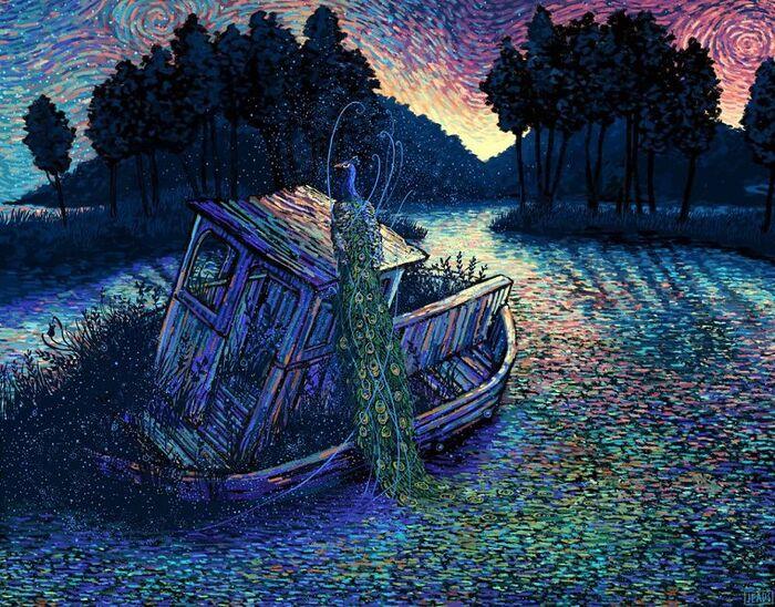 Les Mondes fantastiques de l'illustrateur James R. Eads
