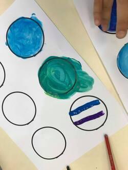 Une technique artistique - les nuances de couleur