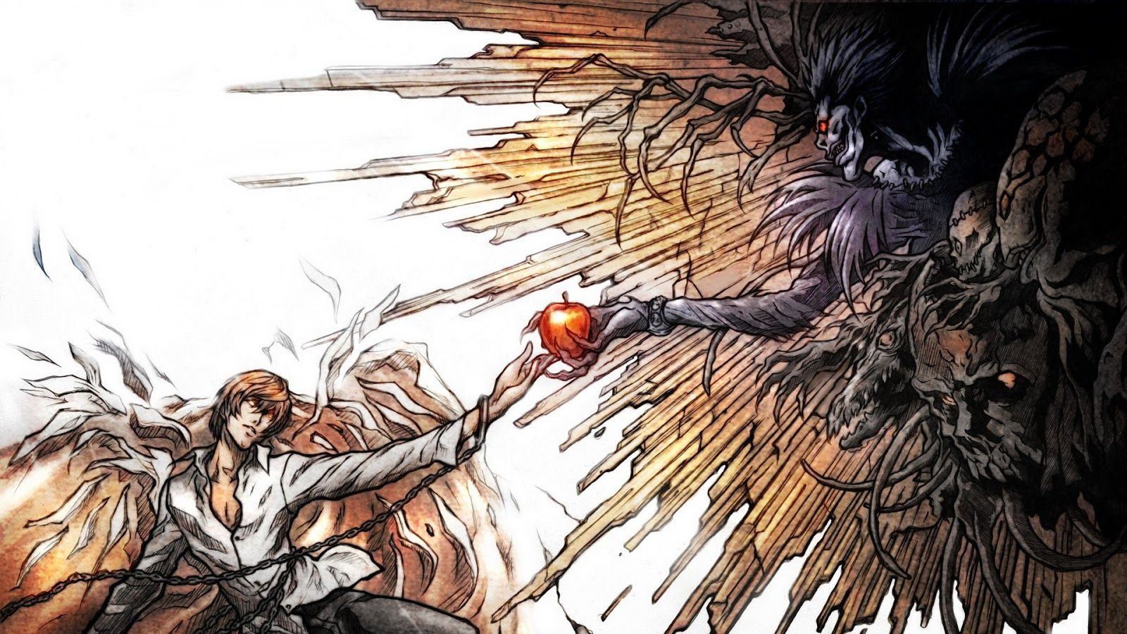 "Résultat de recherche d'images pour ""death note wallpaper ryuk and light"""