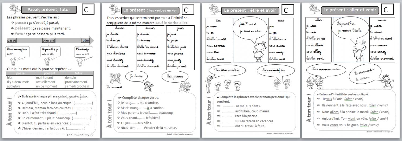 Fiche ce1 conjugaison a imprimer - Grammaire ce1 a imprimer ...