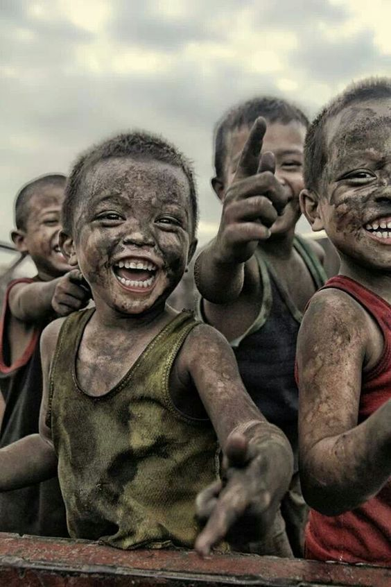●A little mud makes you smile.lol