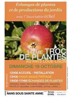14ème Troc aux plantes Loue-Lison : Dimanche 19 octobre