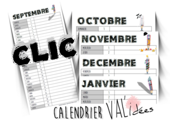 Calendriers individuels