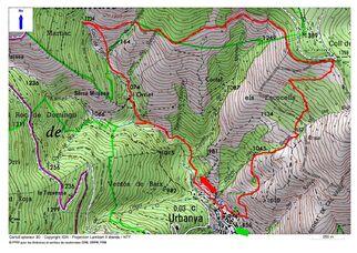 Le Chemin de l'Ourriet (1.359 m) depuis Urbanya (856 m)