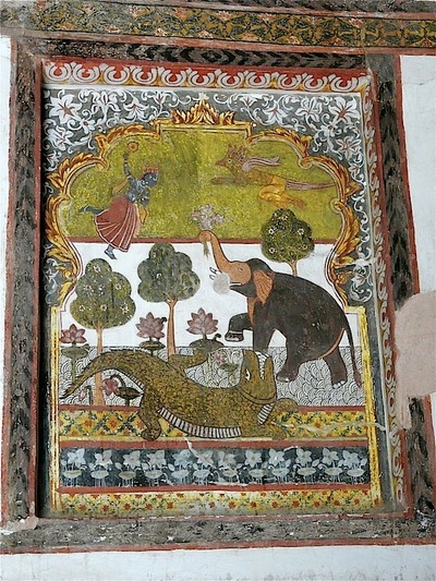 palais Rajah Mahal; décorations intérieures; suite;
