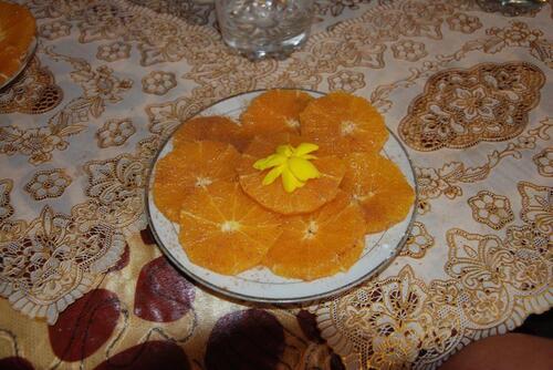 Orange à la canelle