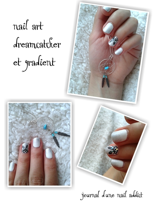 nail art dreamcatcher et gradient journal d'une nail addict