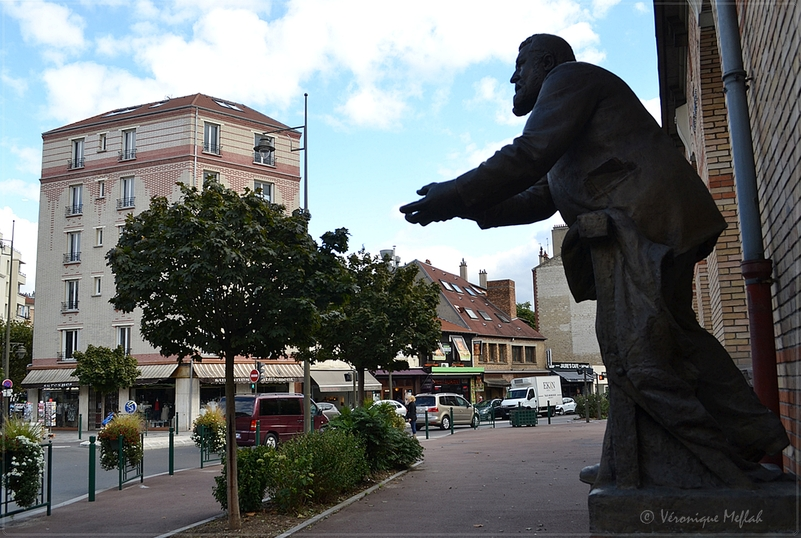 Suresnes : Statue de Jean Jaurès