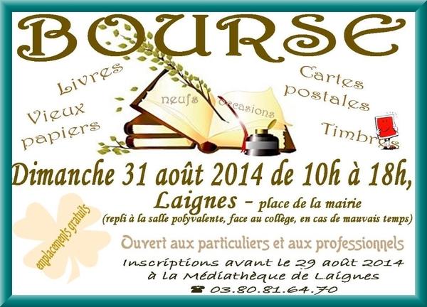 La bourse aux livres de Laignes aura lieu dimanche 31 août...