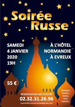 SOIREE RUSSE Samedi 4 Janvier 2020 à 19h