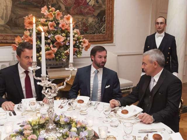 Diner institutionnel au Château de Berg avec les membres du Gouvernement