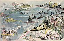 La Sortie de l'opéra en l'an 2000 (vers 1882), lithographie d'Albert Robida