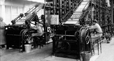 1913, Paris, Bd Brune. Fabrique de timbres-poste (cliquer pour agrandir)