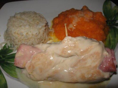 roulés de poulet sauce citronnée