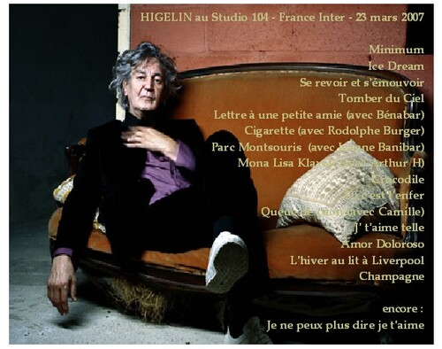 Live: Jacques Higelin - Studio 104 Paris FM - 23 Mars 2007