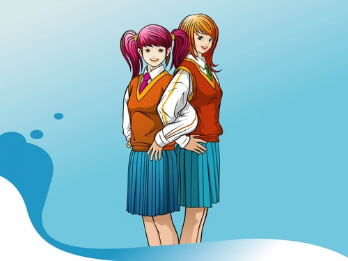 Wallpapers students girls