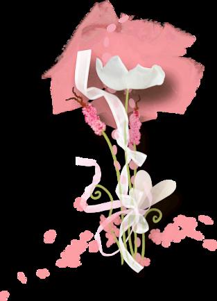 Tubes fleurs en scrap