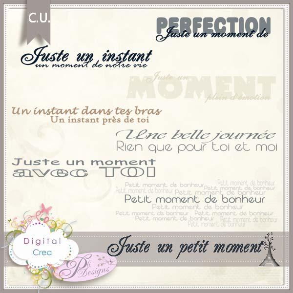 Juste un petit moment by Pli Designs