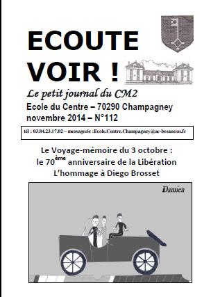 * 3 0CTOBRE : Sortie-mémoire autour de CHAMPAGNEY (Alain Jacquot-Boileau)