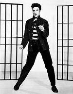 Elvis Aaron Presleyest un chanteur et acteuraméricain né le8 janvier 1935 àTupelo  dans leMississippi, et mort le16 août 1977 àMenphis, dans leTennessee. SurnomméThe King(«le Roi»), il est l'une des icônes culturelles majeures duxxesiècle.