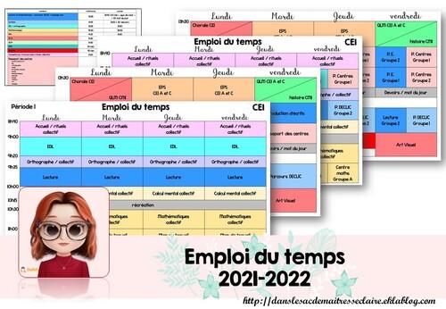 emploi du temps 2021-2022 (CE1)
