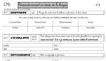 Fiches de révisions en français et en mathématiques cm1 et cm2