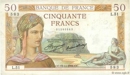 LE 50 FRANCS CERES