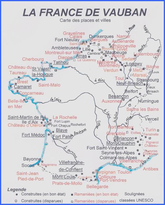 Les fortifications de Vauban en France