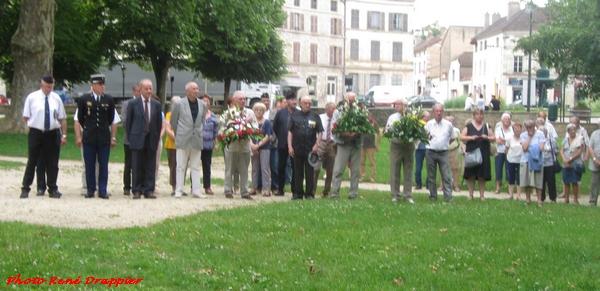 La commémoration de l'appel du 18 juin à Châtillon sur Seine, vue par René Drappier