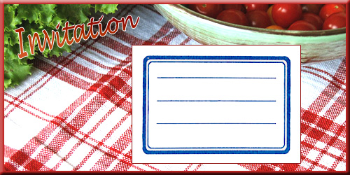Carte à remplir, invitations