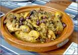 Tajine de Poulet à l'aubergine et citrons confits