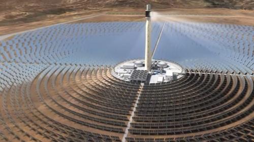 Les centrales solaires thermiques.