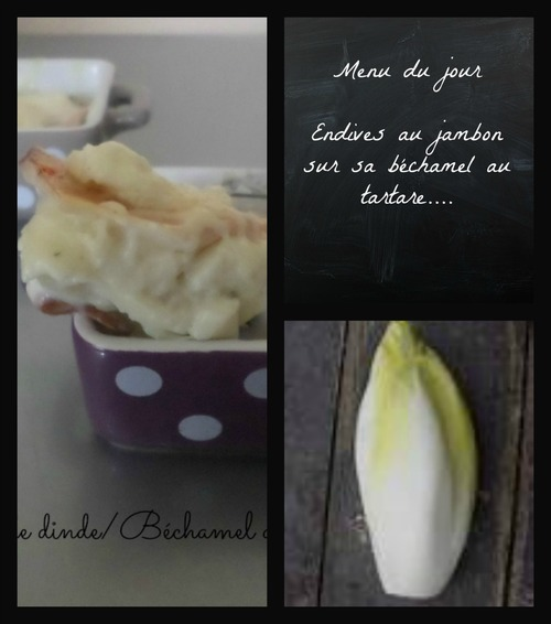 Endives au jambon de dinde et béchamel au tartare