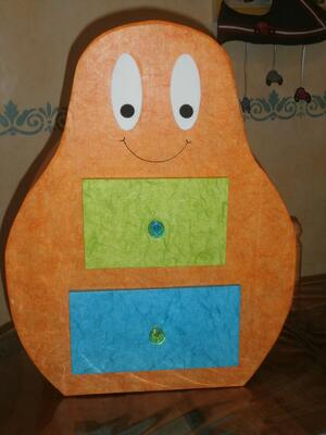 Barbapapa en Carton Orange