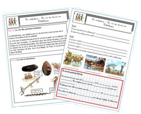 Histoire: les hommes préhistoriques