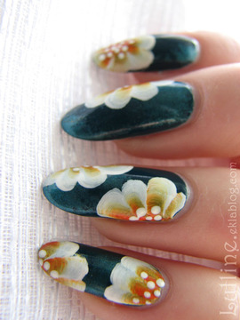 Nail Art - One Stroke Orange