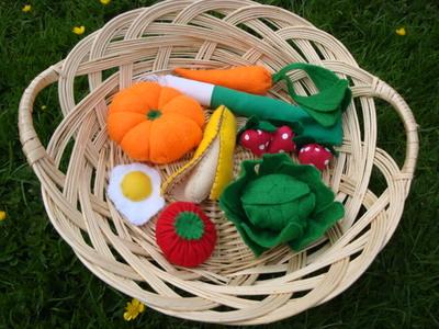 Blog de melimelodesptitsblanpain :Méli Mélo des p'tits Blanpain!, Fruits & légumes en feutrine