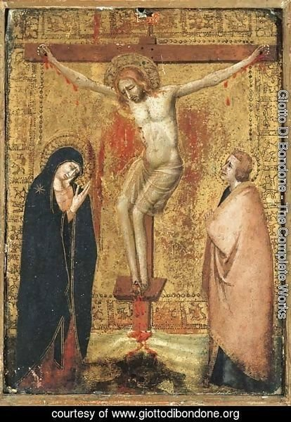The Crucifixion with the Virgin and Saint John the Evangelist by Giotto Di  Bondone | Oil Painting | giottodibondone.org