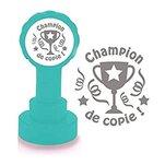 Champion de copie - Tampon Encreur Automatique Pour Enseignant, Argent Encre, Trophée du Design.