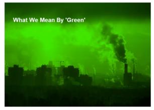 L'écran de fumée vert de l'Europe.