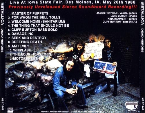 Damage Inc  U S A  (Ozzy Tour) - Metallica-French Metal Militia