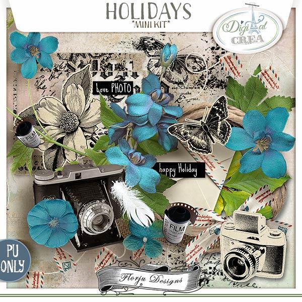 Holidays { Mini Kit PU } by Florju Designs