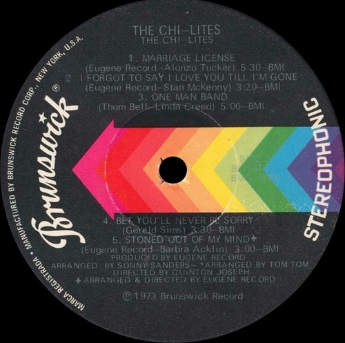 "The Chi-Lites : Album "" Chi-Lites "" Brunswick Records BL 754197 [ US ]"