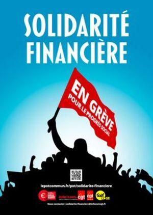 Solidarité financière avec  les salarié.e.s en grève:pot commun organisé par Info'Com-CGT (29/12/19)