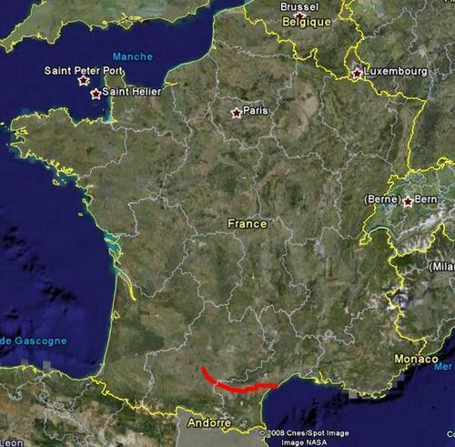 Présentation du parcours Canal du Midi 2007...