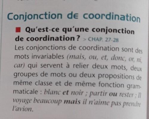 B / La conjonction de coordination