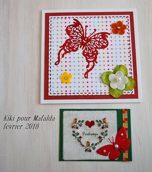 ATC coeur de printemps Kiki pour C Mafalda