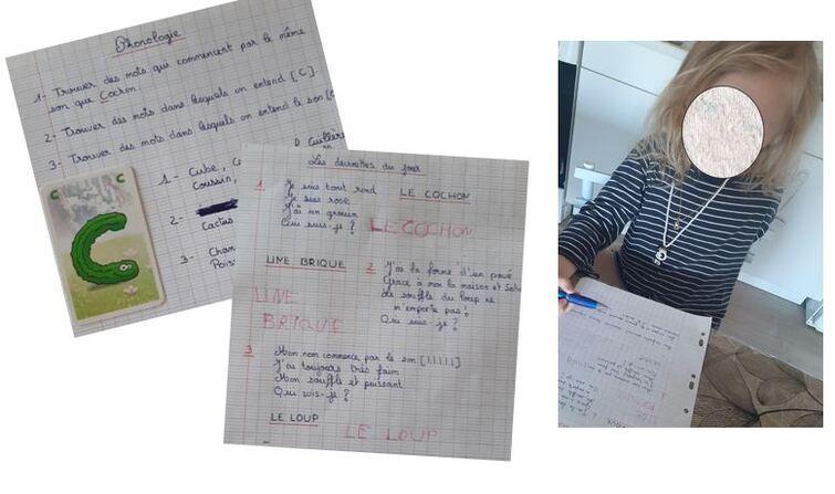 Des devoirs comme les GRANDS pour Siana...