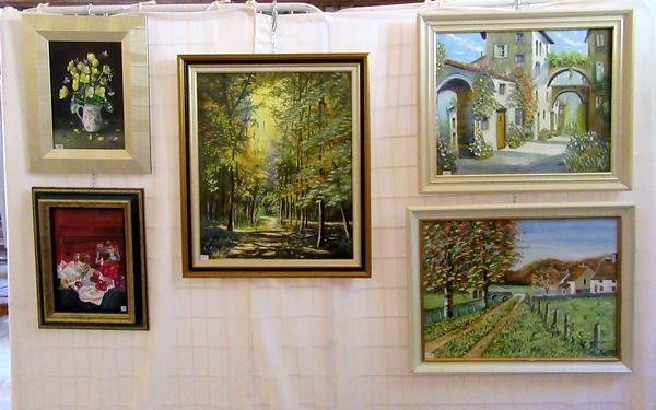 Les peintres des Amis du châtillonnais ont exposé dans l'église de Bellenod sur Seine