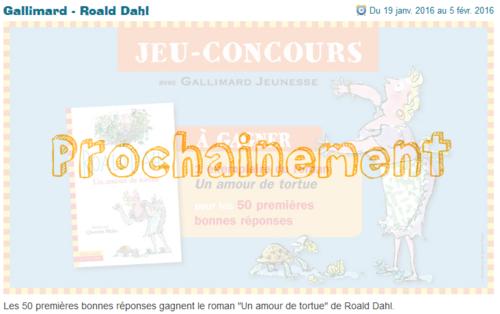 Livre Roald Dahl à gagner